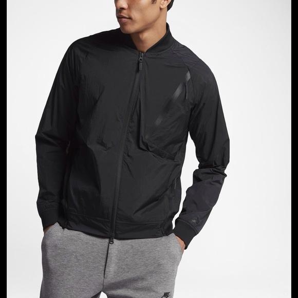 8741cf4559a0 Nike NWT Tech Pack hyper mesh varsity jacket black